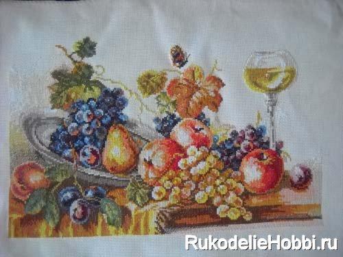 Осенний натюрморт - вышивка крестиком