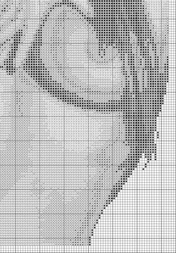 Вышиваем крестом обнажённую девушку