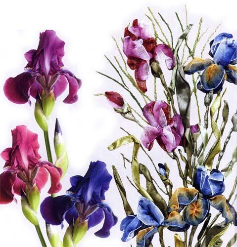 Сейчас конечно можно приобрести практически любой редкий цветок, но мы будем их вышивать лентами.