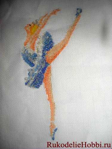 Вышиваем крестом балерину