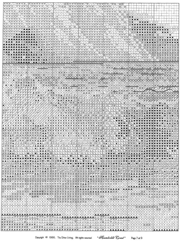 Залив гумбольдт вышивка схема 9