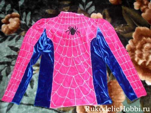 Выкройку костюма человека паука 75