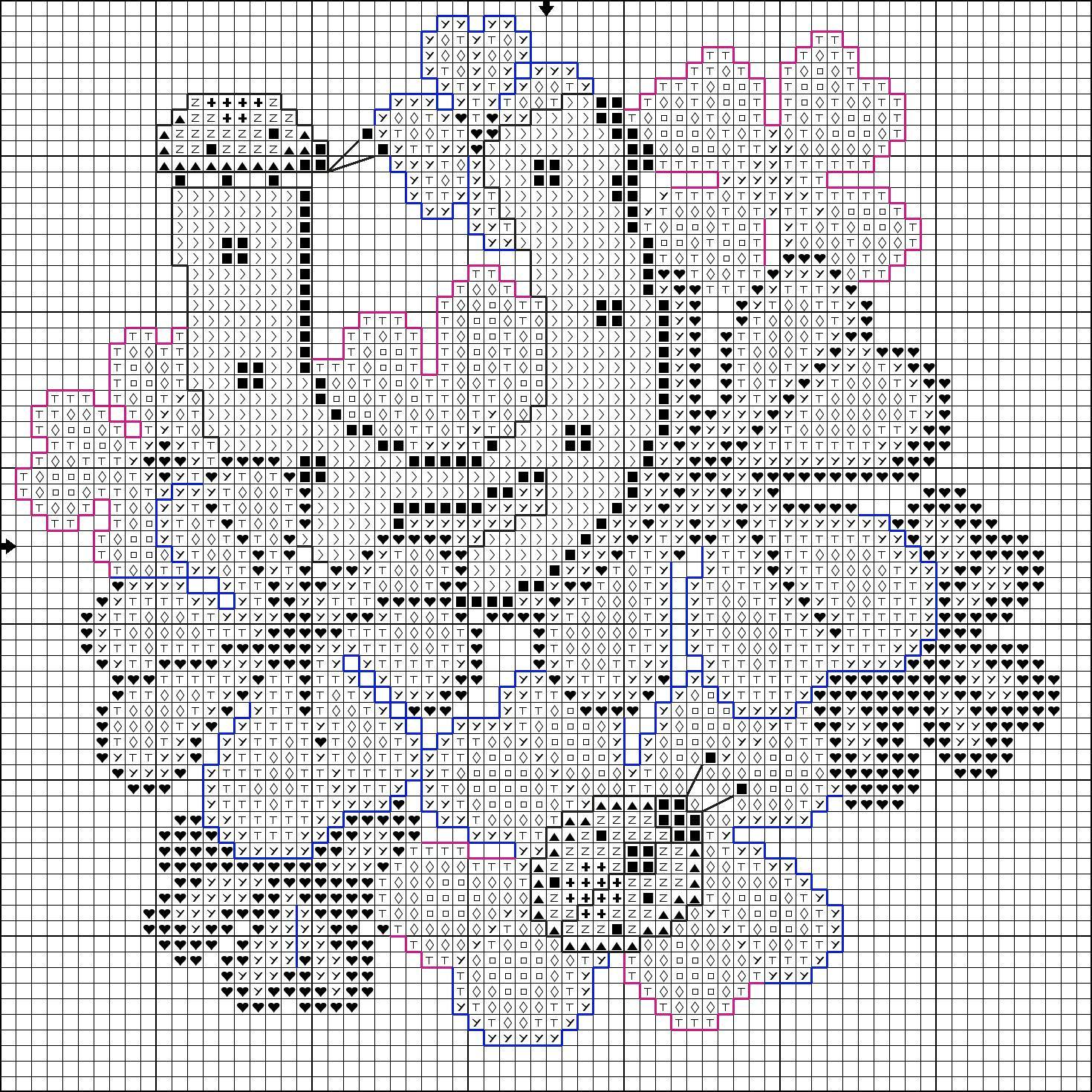 Вышивка крестом схемы на удачу 511
