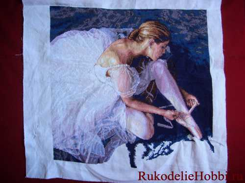 Вышивка красивой балерины