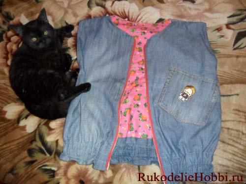 Сумочка из старых джинсов - Рукоделие