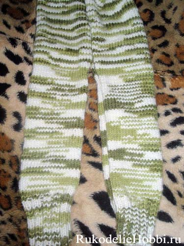 рукоделие вязать детские штанишки