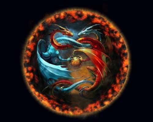 символа дракона в вышивке