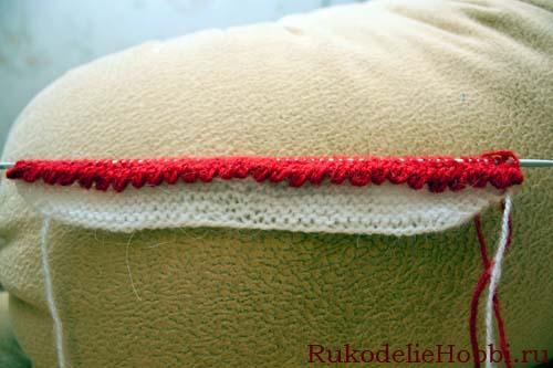 Вязанные на спицах пинетки и тапочки